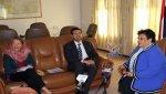 السيد تناقش مع نائب ممثل اليونسيف جوانب حماية الطفولة