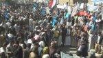 عمران : مسيرة جماهيرية ووقفة للمؤتمر أحزاب التحالف تندد بجرائم العدوان السعودي
