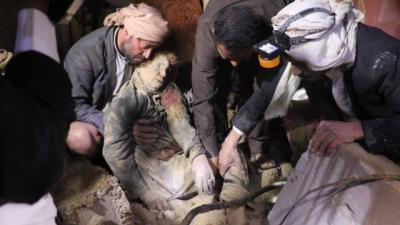 طيران العدوان يواصل ارتكاب جرائم الإبادة الجماعية بحق الشعب اليمني