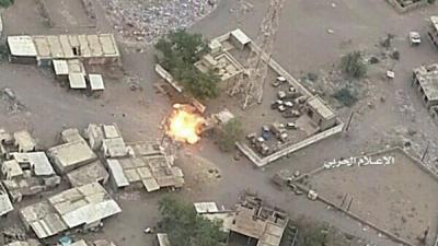 قصف تجمعات عسكرية سعودية في العمق