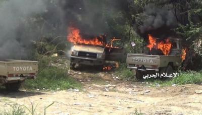 قصف صاروخي ومدفعي يستهدف تجمعات للمرتزقة