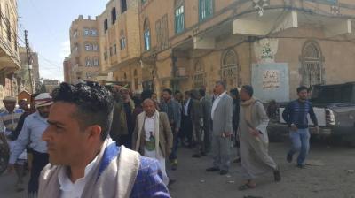الامين العام وقيادات مؤتمرية يشاركون في تشييع جثمان شقيق سالم العولقي