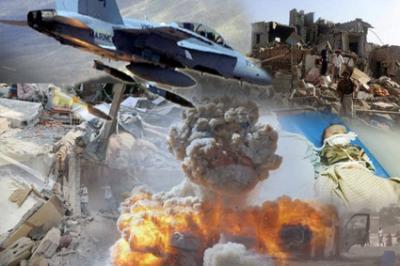 طيران العدوان السعودي يشن 28 غارة على 5 محافظات