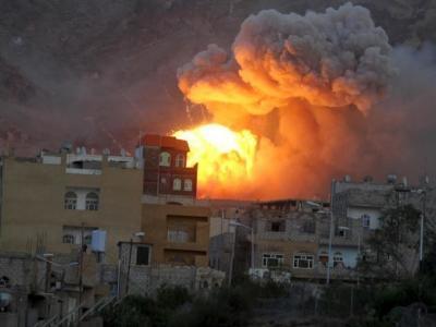 10 شهداء وجرحى بغارة لطيران العدوان على مأرب