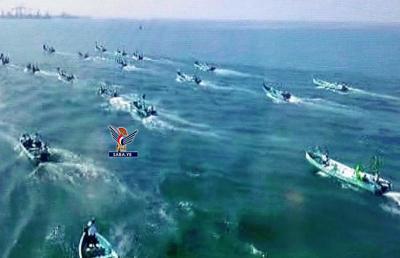 الحديدة.. عرض بحري لقوارب الصيادين احتفاء بالمولد النبوي
